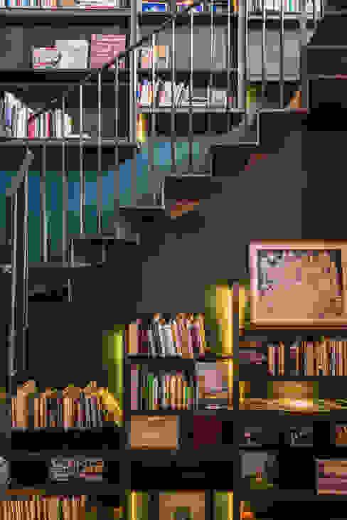 Paola Calzada Arquitectos Stairs Wood-Plastic Composite Blue