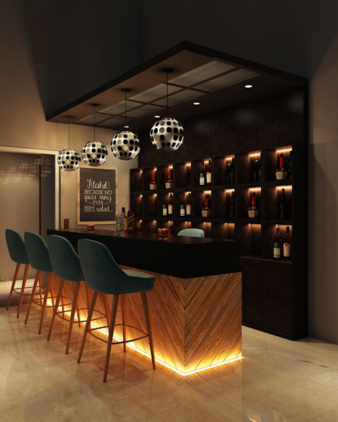 Interiors:  Wine cellar by Spaces Alive,Asian