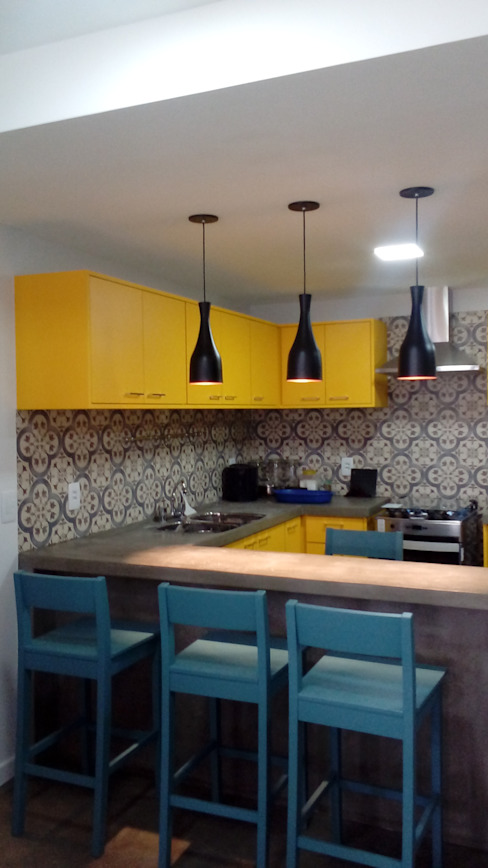Margareth Salles Muebles de cocinas Concreto Gris