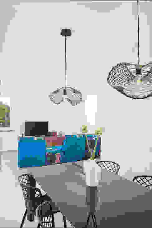 Area Living manuarino architettura design comunicazione Soggiorno minimalista Blu