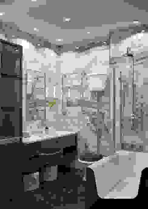 """Дизайн-проект квартиры в ЖК """"Мосфильмовский"""" Ванная в классическом стиле от Style Home Классический"""