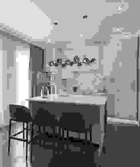 """Дизайн-проект квартиры в ЖК """"Отрада"""" Кухня в классическом стиле от Style Home Классический"""