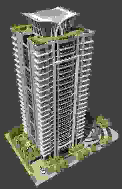 新北市新莊區案例 - 24層建築外觀設計&夜間4時段燈光計畫 根據 雲展建築設計 Winstarts Architectural Design Group