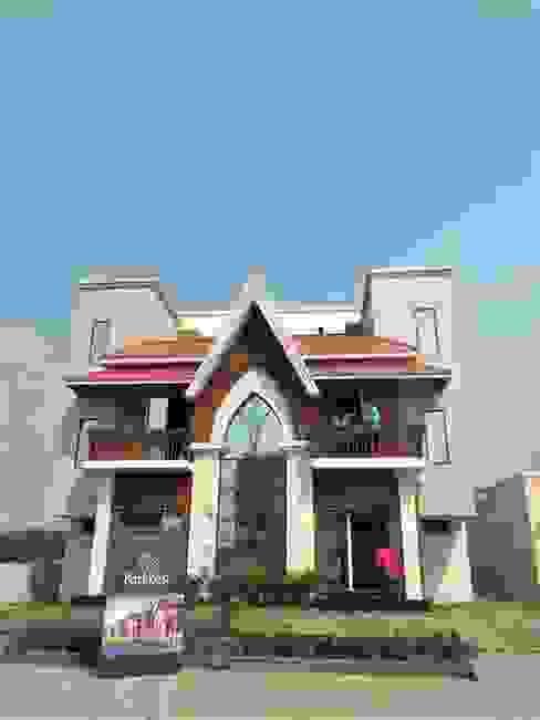 Actual sample house on site image by Flava Design Studio Asian Concrete