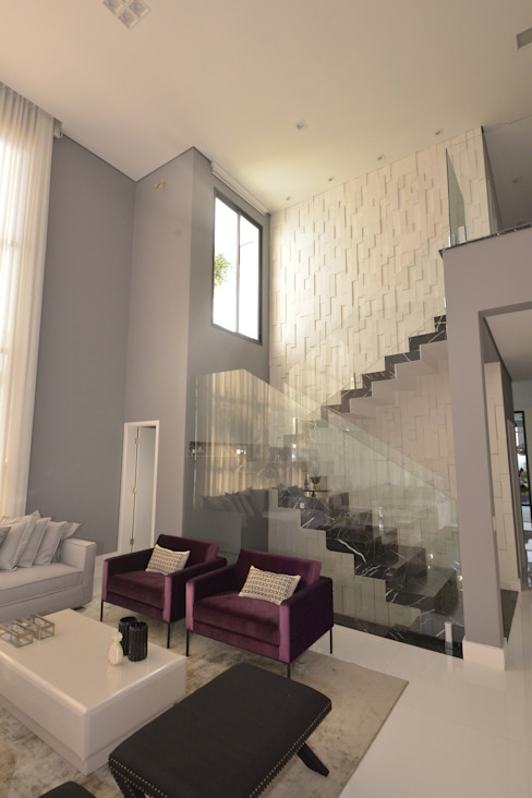 escada por Andréa Generoso - Arquitetura e Construção Minimalista Mármore