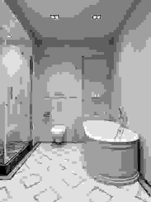 Квартира 59 метров в ЖК Привилегия: Ванные комнаты в . Автор – EJ Studio, Модерн