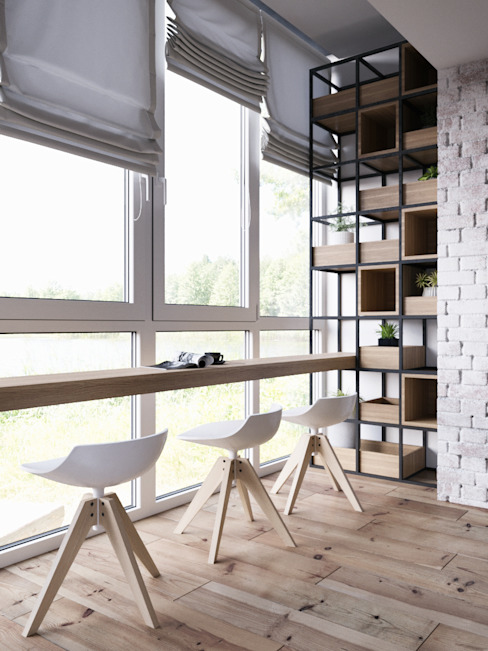 Scandinavian style windows & doors by Дизайн интерьера Киев|tishchenko.com.ua Scandinavian