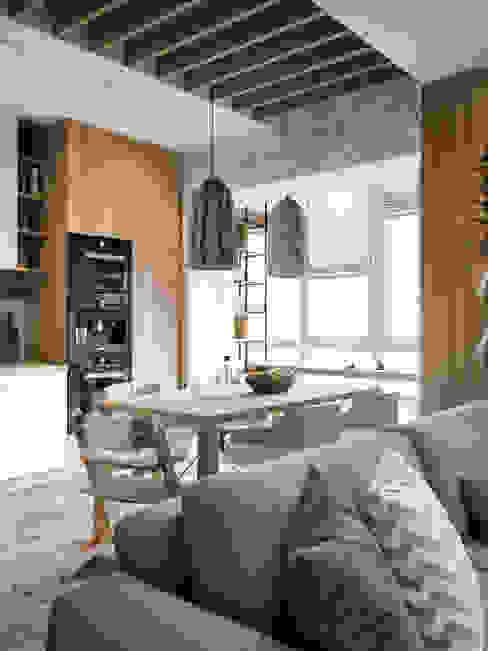 Scandinavian style living room by Дизайн интерьера Киев|tishchenko.com.ua Scandinavian