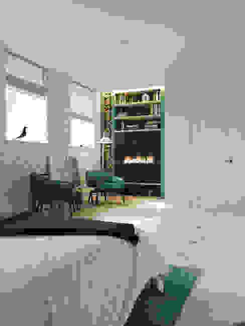 Scandinavian style bedroom by Дизайн интерьера Киев|tishchenko.com.ua Scandinavian