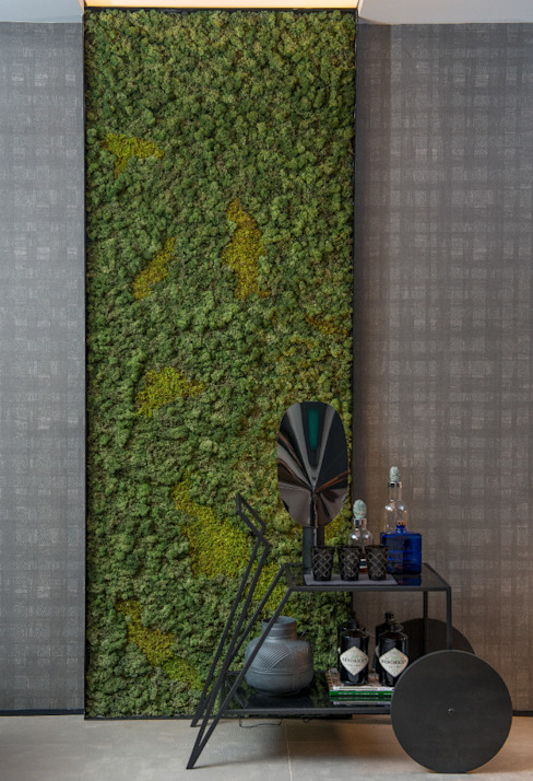 Preserved Moss Panel Vertical Garden - Jardim Vertical e Paisagismo Corporativo Interior landscaping