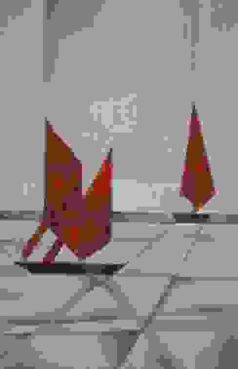 Barche rosse di Meraki di Irene Mancini Decorazione d'Interni Moderno Canapa / Iuta Viola/Ciclamino