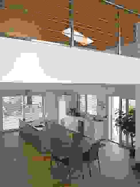 Гостиная в стиле модерн от Marlegno Модерн Дерево Эффект древесины