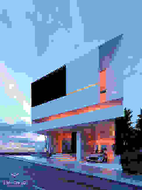 EMPORIO Arquitectura e Ingenieria의  빌라, 모던 콘크리트