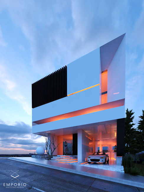 別墅 by EMPORIO Arquitectura e Ingenieria, 現代風 水泥