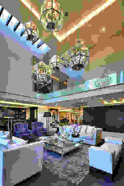 homify Modern Living Room Concrete Black