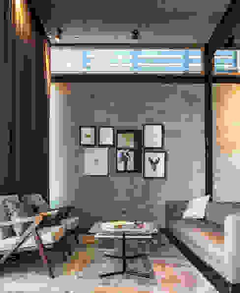 غرفة المعيشة تنفيذ Garza Maya Arquitectos