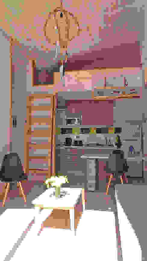 Cabañas Algarrobo Cocinas de estilo escandinavo de m2 estudio arquitectos - Santiago Escandinavo