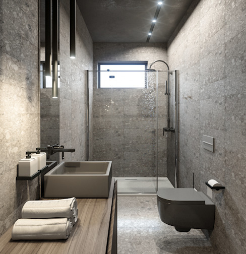 Minimalist style bathroom by ANARCHY DESIGN Minimalist