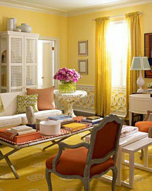 Living room in hues of Yellow:  Living room by AK INTERIOR ARCHITECTS