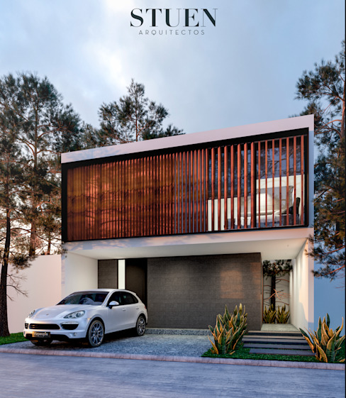 Single family home by Stuen Arquitectos, Minimalist Wood Wood effect