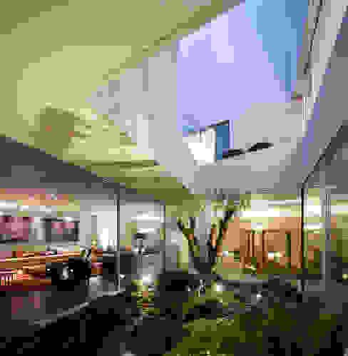 Proyecto arquitectónico. Construcción de una vivienda en Kwait Jardines de invierno de estilo moderno de AGi architects arquitectos y diseñadores en Madrid Moderno