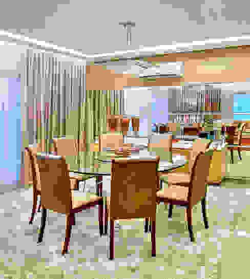 Apartamento contemporâneo de luxo em Fortaleza RI Arquitetura Salas de jantar modernas