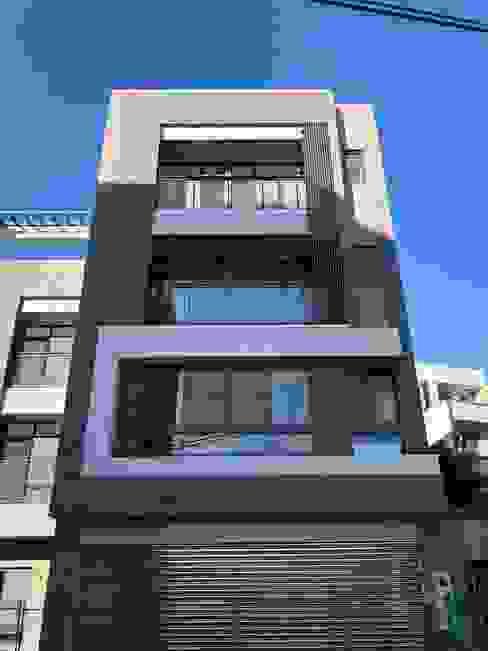 現代風的住商設計 讚基營造有限公司 別墅 磚塊 Grey