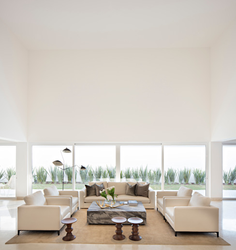 GLR Arquitectos Living room White