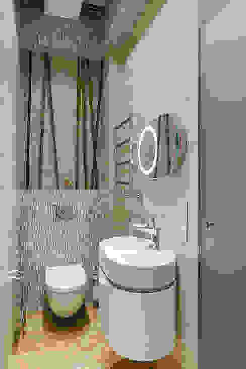 Экоквартира на Морском проспекте Ванная комната в стиле модерн от FISHEYE Architecture & Design Модерн