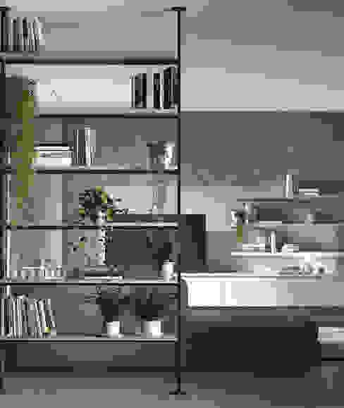 Area design interiores Nowoczesny salon Biały