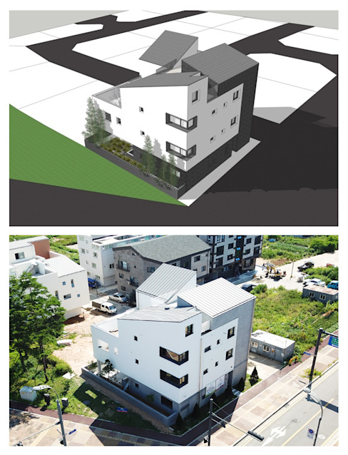 삼지붕집 planning: 하우스플래너의 현대 ,모던