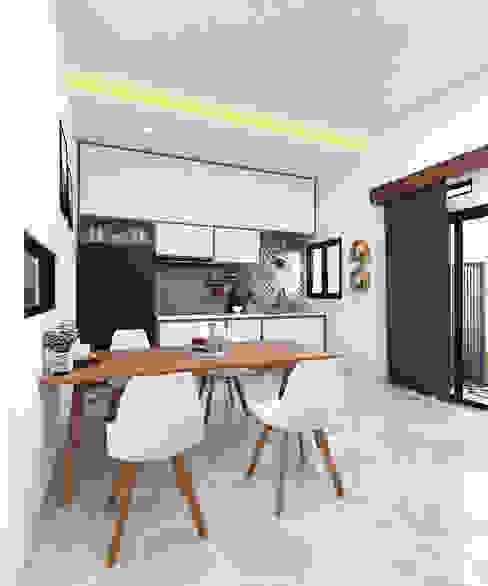 HUNIAN TROPIS DI RANAH MINAG: Dapur built in oleh CASA.ID ARCHITECTS,