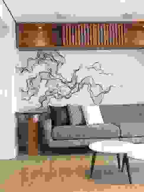 Sala de estar Studio Side Arquitetura e Interiores Salas de estar modernas MDF Efeito de madeira