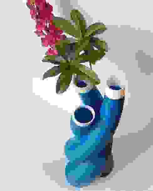 Octopus signal blu/bianco di SeFa Design by nature Eclettico Fibre naturali Beige
