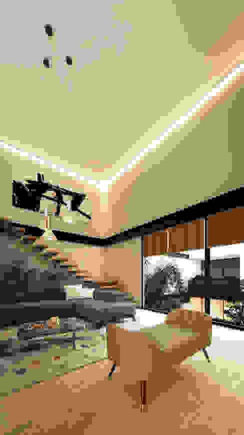 EUCAP 435 Salones modernos de WERHAUS ARQUITECTOS Moderno