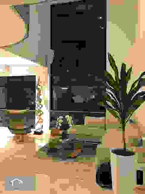 Transitional style at 53 Grange Road Singapore Carpentry Interior Design Pte Ltd Modern living room
