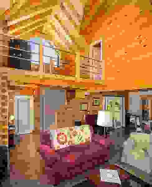 Livings de estilo clásico de Patagonia Log Homes - Arquitectos - Neuquén Clásico Madera maciza Multicolor