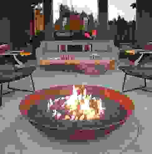 Fire Bowl a gas de Grupo Cinco Chimeneas Rústico Hierro/Acero
