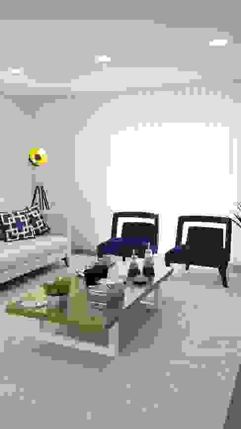 Remodelação, design e decoração de moradia Salas de estar ecléticas por AtelierAtelier Eclético