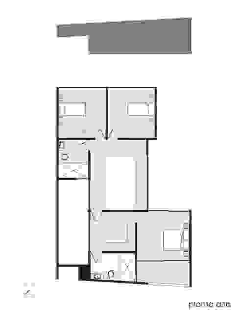 Planta 2º nivel.:  de estilo  por Creer y Crear. Arquitectura/Diseño/Construcción,