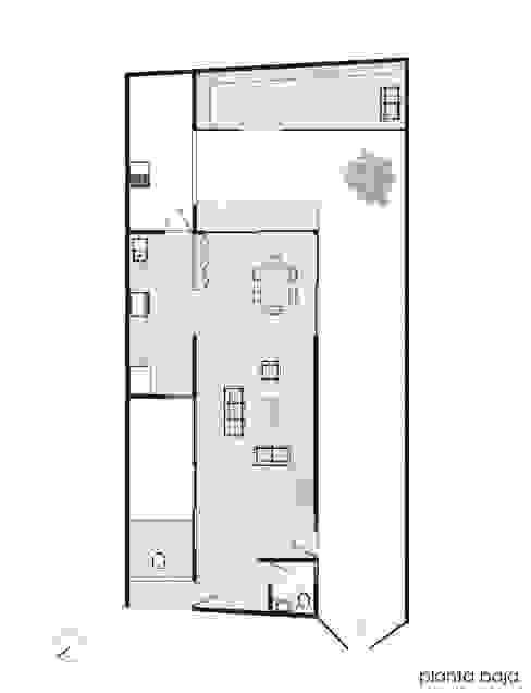 Planta 1er nivel.:  de estilo  por Creer y Crear. Arquitectura/Diseño/Construcción,