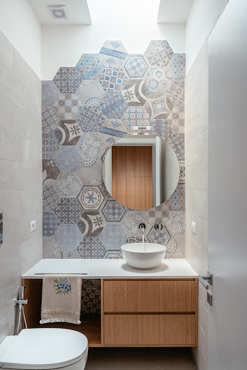manuarino architettura design comunicazione Ванная комната в стиле модерн