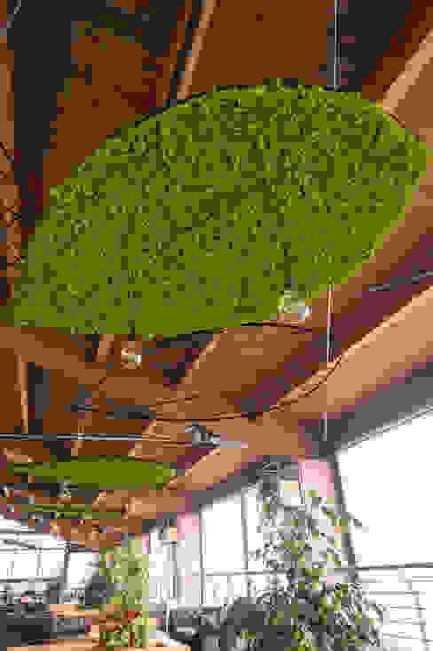 La componente naturale AbitoVerde Bar & Club in stile scandinavo Verde
