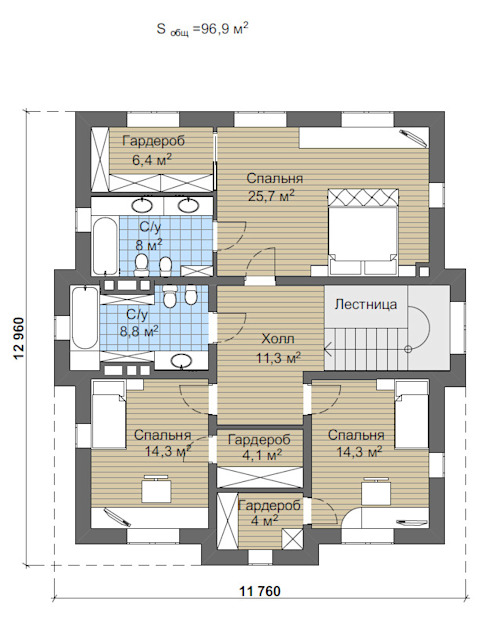 Дарли-2_273 кв.м:  в . Автор – Vesco Construction, Классический
