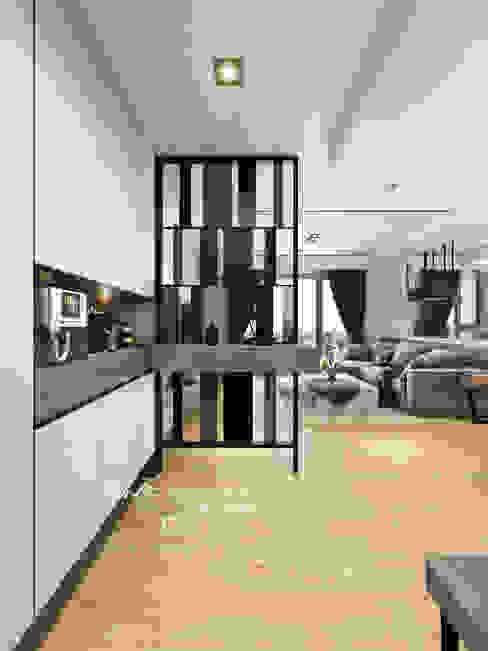 玄關/歐式系統傢俱/鐵件/現代風 Modern Corridor, Hallway and Staircase by homify Modern