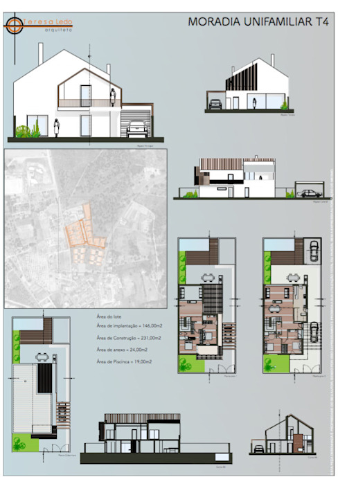 منازل تنفيذ Teresa Ledo, arquiteta