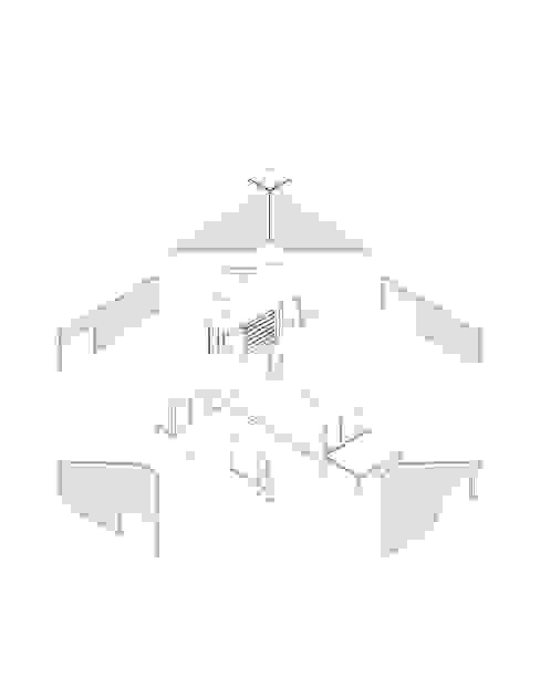 Isométrica Desplegada Casas modernas de mutarestudio Arquitectura Moderno