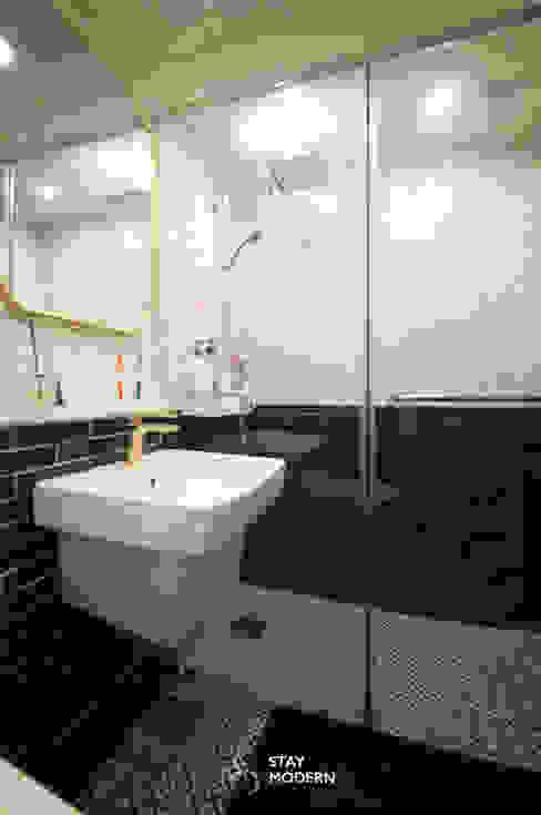 [24py] 부산 연지동 청구아파트 신혼집 인테리어: 스테이 모던 (Stay Modern)의  욕실