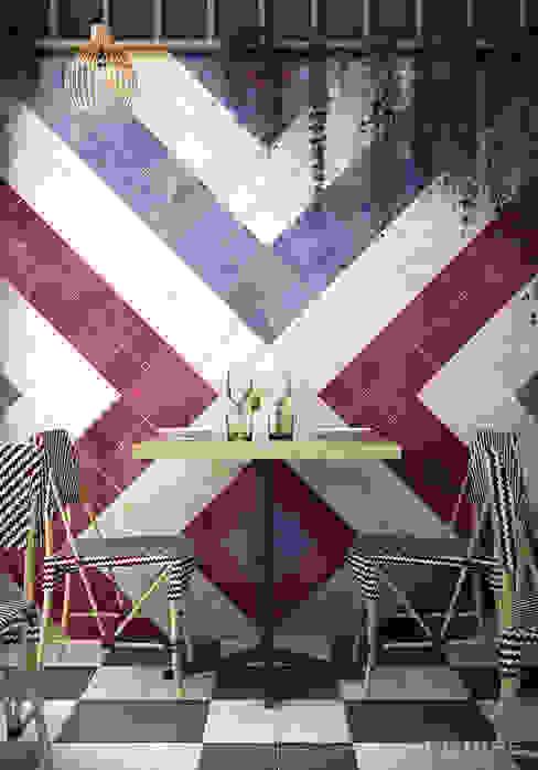 Equipe Ceramicas Mediterranean style balcony, veranda & terrace Ceramic Multicolored