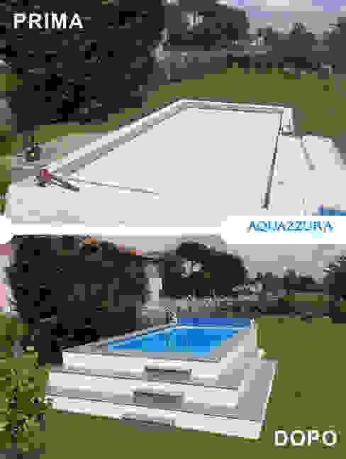 La piscina fuori terra rivestita in legno o wpc arreda il tuo giardino ed è un divertimento estivo per tutta la famiglia . di Aquazzura Piscine Moderno